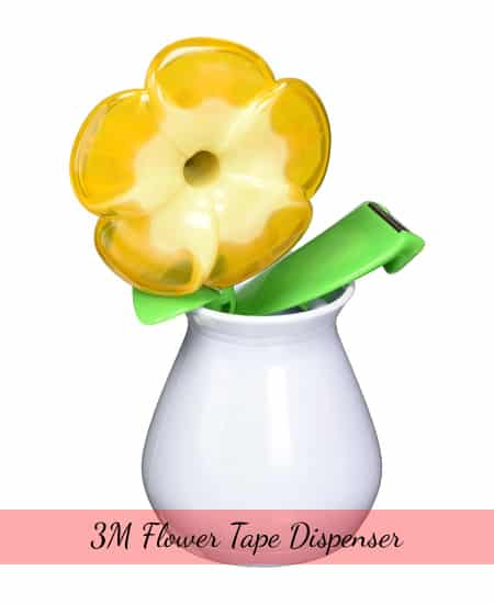 3M Flower Tape Dispenser | cute stationery appreciation gift for teachers