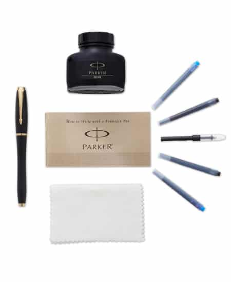high school graduation gift idea for guys - Parker Urban Black and Gold Fountain Pen Kit