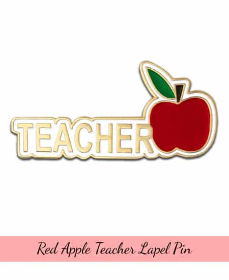 Teacher Red Apple Lapel Pin | teacher appreciation gift ideas