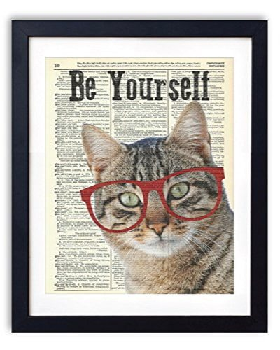 """Be Yourself"" Cat Art Print"