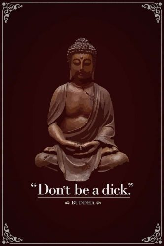 Funny Buddha Quotation Poster