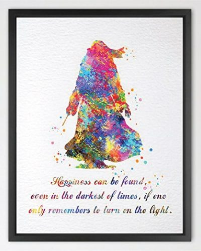 Dumbledore Harry Potter Inspired Watercolor Poster