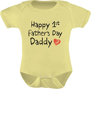 happy first father's day bodysuit. funny dad gift.