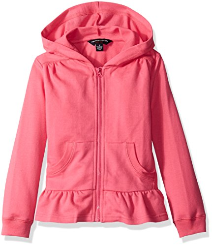 gifts for tween girls Chic Pink Hoodie with Ruffle
