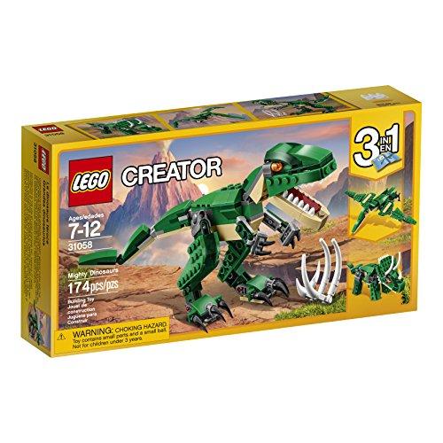 tween boy gift ideas - lego creator mighty dinosaurs 31058 building kit