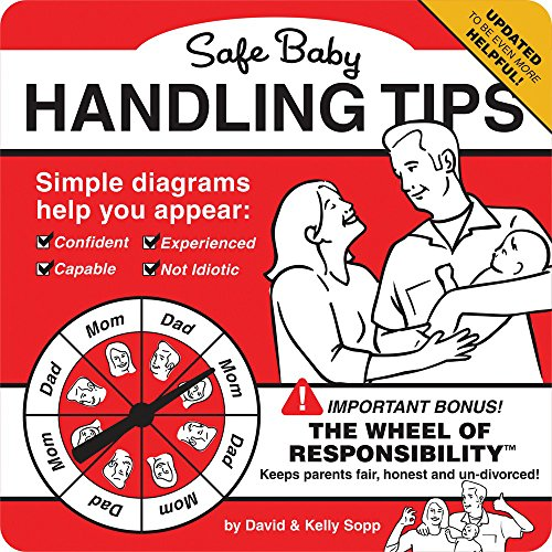 humorous new dad book with helpful tips. funny book gift.