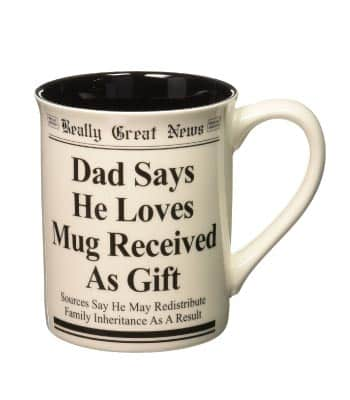 Funny dad mug. Perfect Fathers Day Gifts from Adult Daughter.