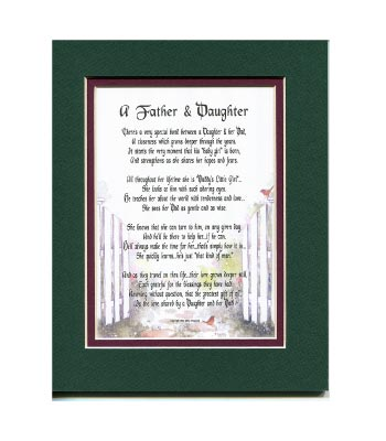 Father Daughter Poem for Father's Day. Great Gift from Daughter.