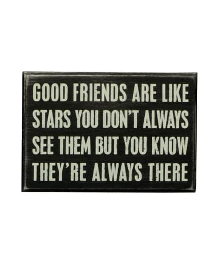 Good Friends Box Sign | Happy Best Friend Day! Best Friendship Gift Ideas