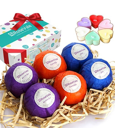 RoseVale Bath Bomb Gift Set | Best Friend Gift Ideas | Friendship appreciation gifts