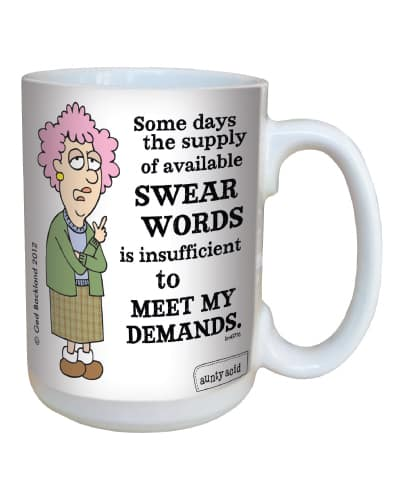aunty acid swear word supply mug