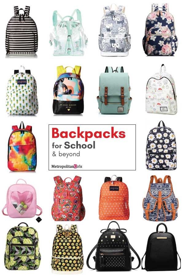 Cute back to school supplies backpack for girls