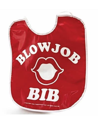 naughty bachelorette party gifts for bride. blow job bib.