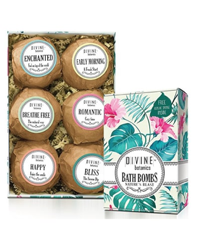 divine botanics bath bombs kit