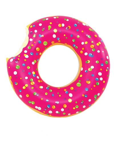 Jumbo Pink Donut Pool Float