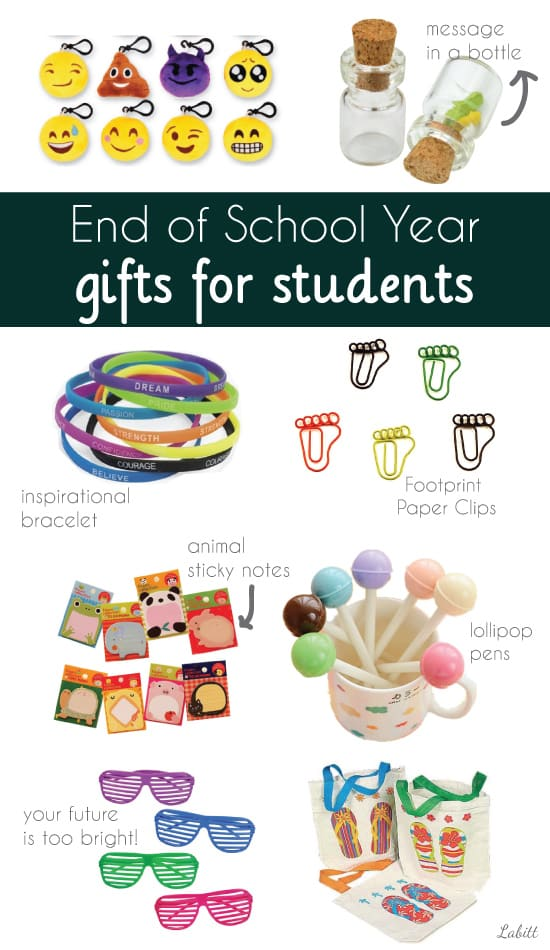 end of year student gift ideas from teacher