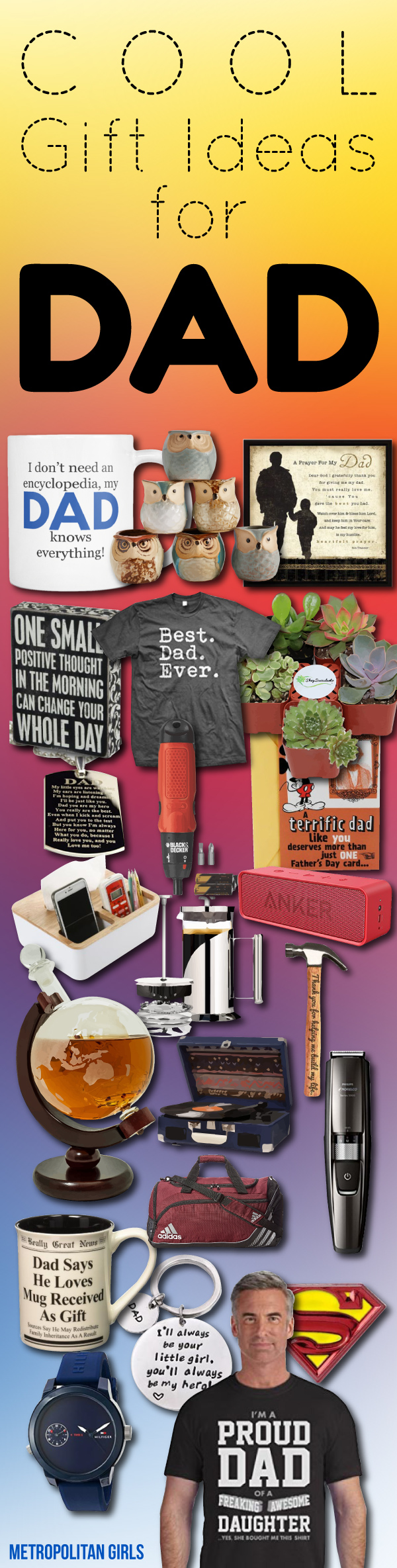 Cool gift ideas for dad - fathers day gifts from daughter