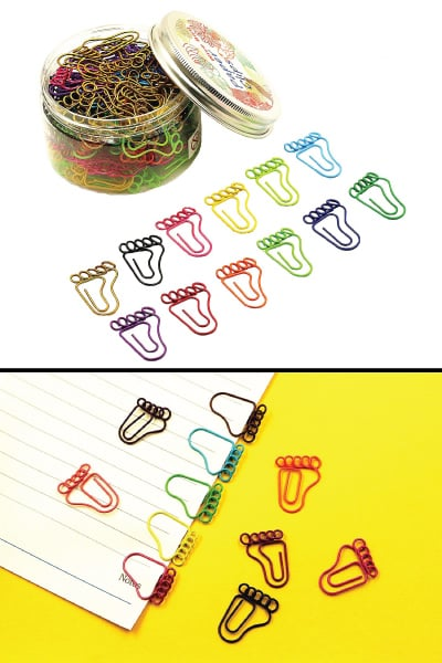 footprint paper clips