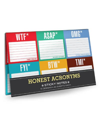 Funny Sticky Notes Set | Receptionist Day