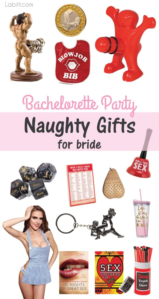 bachelorette party naughty gifts for bride