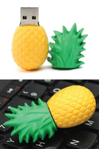 Pineapple USB Flash Drive | gift ideas for staff from boss | receptionist day appreciation gift ideas