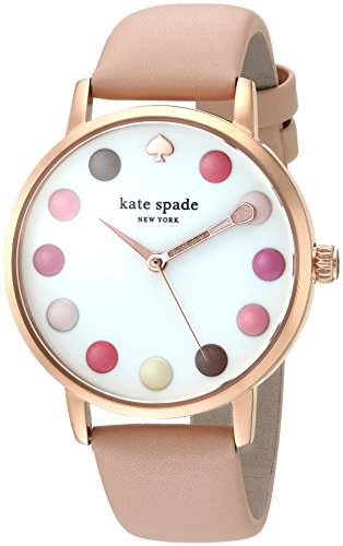 Kate Spade New York Womens Metro Watch Pink Rose Gold 21st