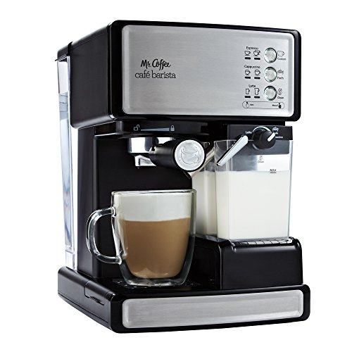 Mr. Coffee Premium Espresso Machine. 15th Wedding Anniversary Gift Ideas for Husband and Wife. Gifts for Him and for Her.