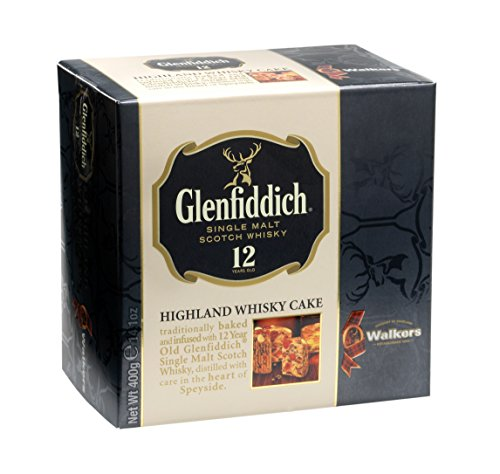 Walkers Shortbread Glenfiddich Highland Whisky Cake. 15 Year Wedding Anniversary Gift Ideas for Husband and Wife. Gifts for Him and for Her.