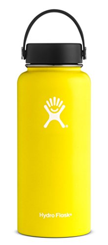 Hydro Flask Yellow Water Bottle
