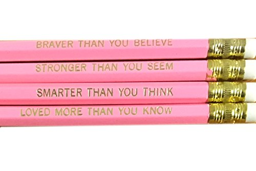 Winnie the Pooh Quotes Pencil Set - Pink