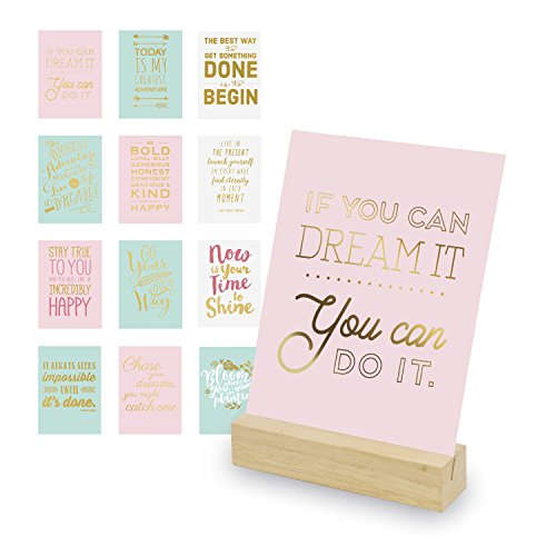 12 Inspirational Cards - Desktop Decor - Teacher Gifts