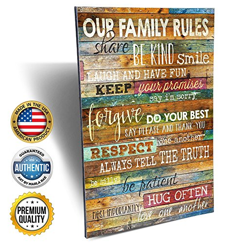 Marla Rae Our Family Rules Wall Sign - Grandparents Gift