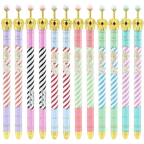 Colorful Crown Gel Pens. Cute back to school supplies.