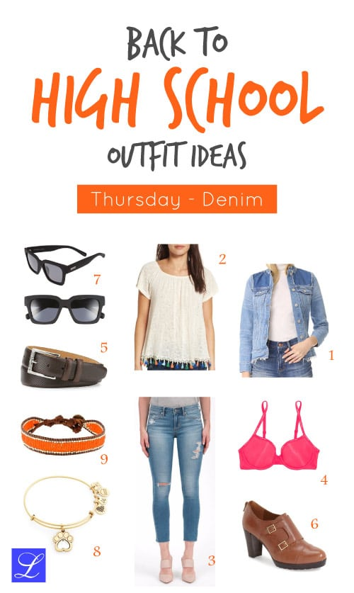 Denim Thursday - Back to school outfit ideas for teen girls (high school / middle school)