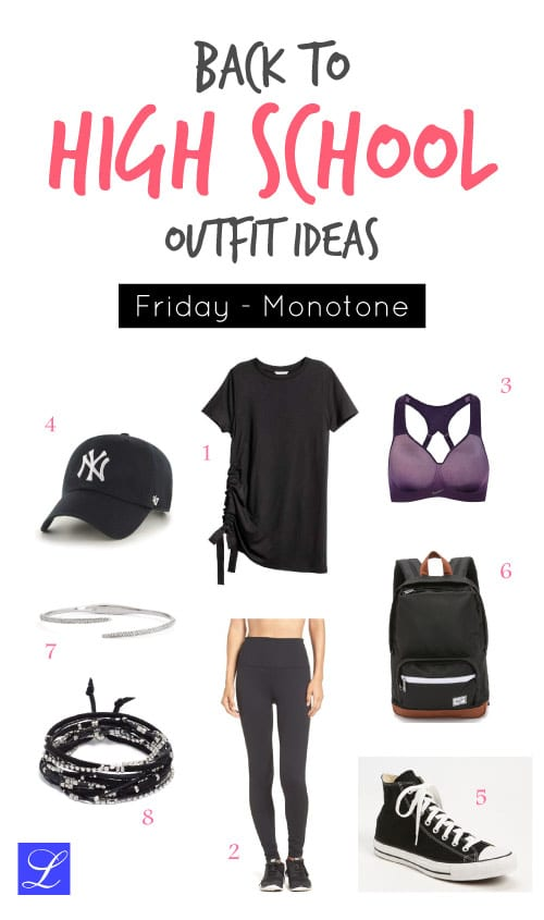 Monotone Friday - High school back to school outfit idea for teenage girls.