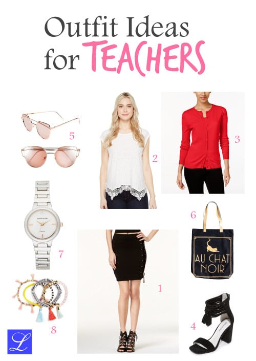 Cool outfit ideas for teachers. Back to school outfits for female teachers.