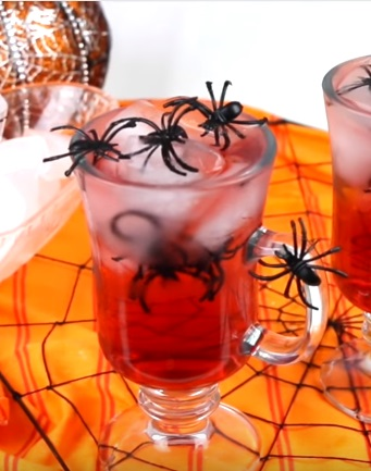 halloween punch recipe | spider punch