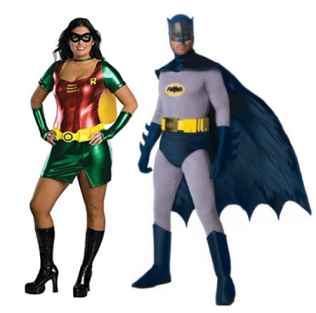 Batman and Robin - - halloween-couples-costumes