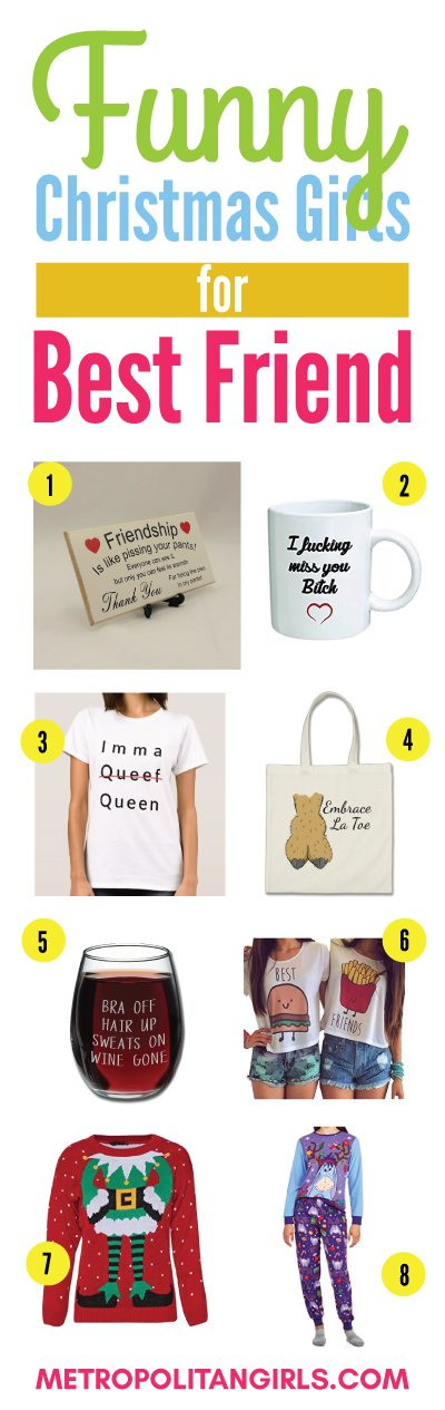 funny christmas gift ideas for best friend humorous gifts