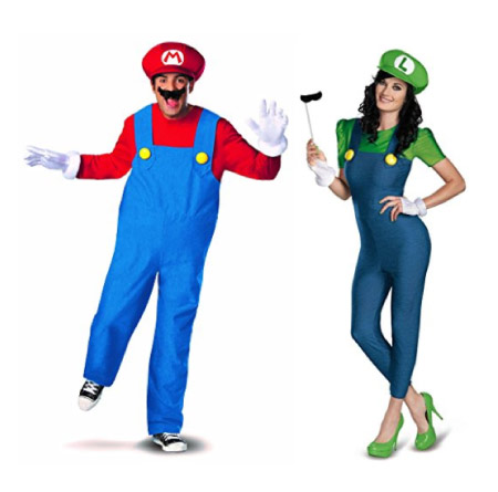 Mario and Luigi - halloween-couples-costumes