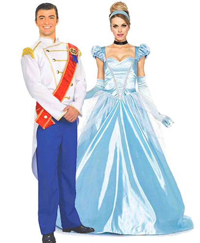 cinderella and prince charming couple matching costumes