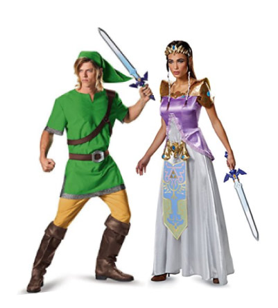 Legend of Zelda - Link u0026 Princess Zelda costumes - Halloween Costumes for Couples Share  sc 1 st  Metropolitan Girls & 20+ Cute Halloween Couple Costume Ideas | Matching Costumes ...