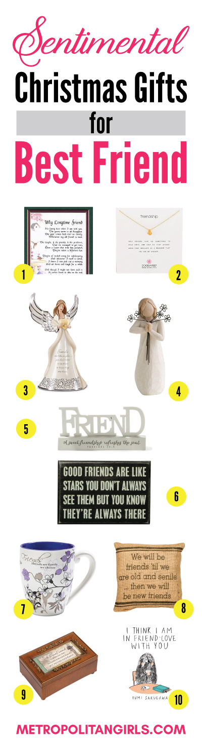 Sentimental Christmas gift ideas for best friend. Friendship gifts that melt hearts.