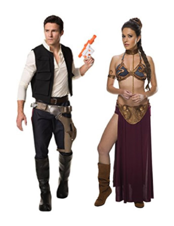 Star Wars - Han Solo and Princess Leia couple costume - halloween-couples-costumes