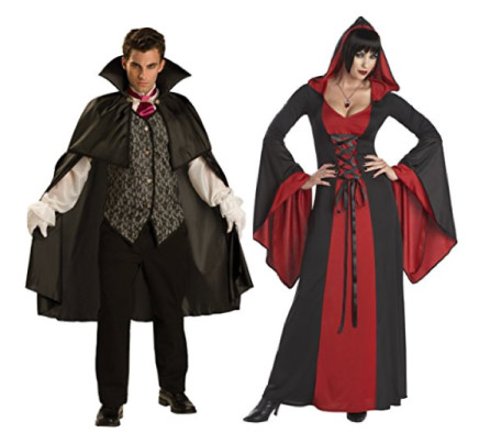 Vampire and Vampiress couple costume - halloween-couples-costumes