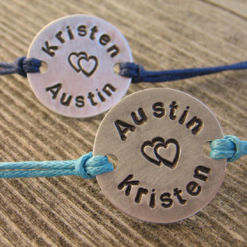 Personalized couple bracelets
