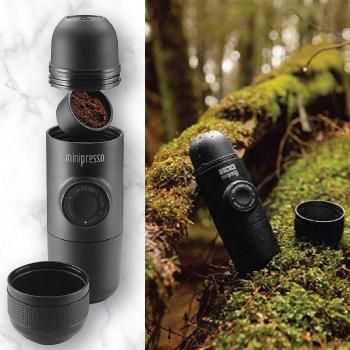 Minipresso portable espresso maker brewer