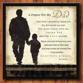 A Prayer for My Dad Framed Poem Wall Plaque