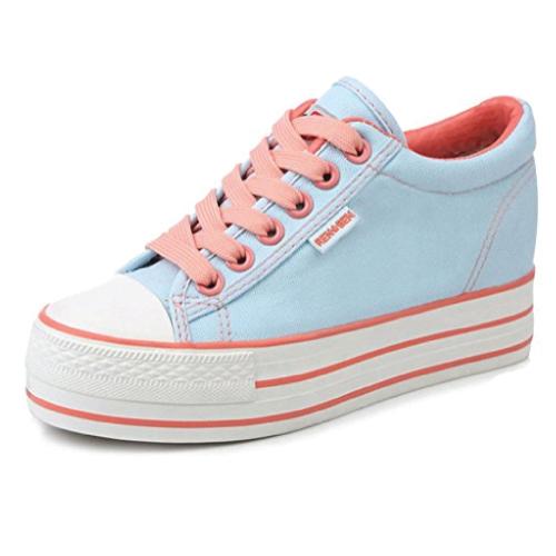 Aisun Casual Platform Canvas Shoes
