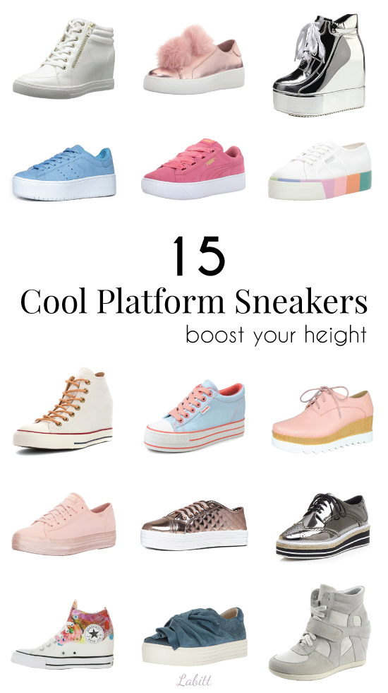 15 Height,Boosting Wedge Platform Sneakers You Should Check Out